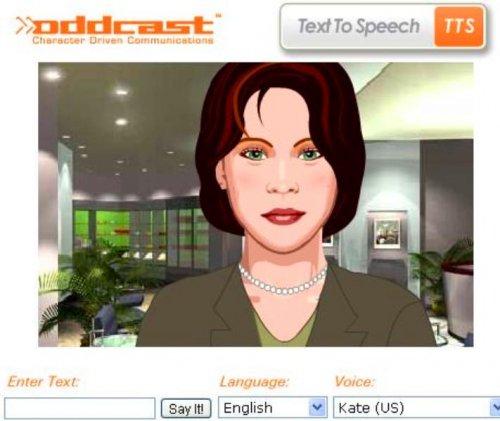 Сервис Oddcast Text-to-Speech: качественное озвучивание напечатанного текста